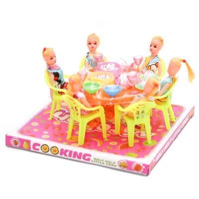 Столик (ковпак) з ляльками А8-76 р.23*20,5*12 см