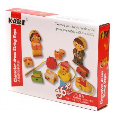 Деревянная игрушка Шнуровка MD 1248 (72шт) фигурки