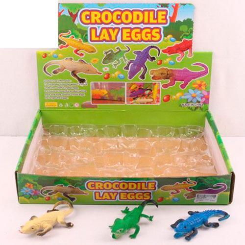 Животное крокодил/ящерица, 11см, внутри шарики, 24, QX2722-37