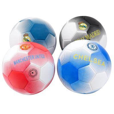 Мяч футбольный, ПВХ, 300-320г,четыре цвета в ящике