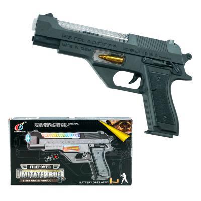 Пистолет 814B (60шт) 23,5см, звук, свет, вибро, на