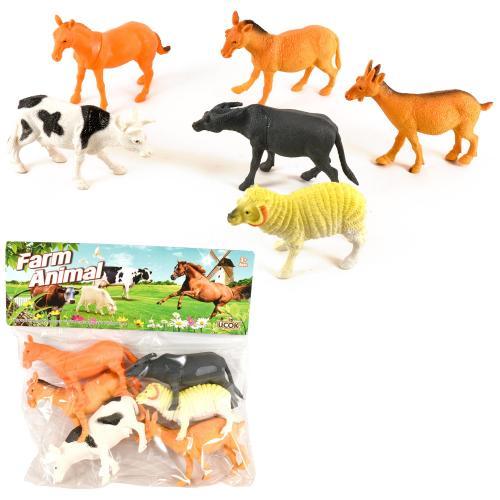 """Набор животных """"Ферма"""" 6 шт., A161-1"""