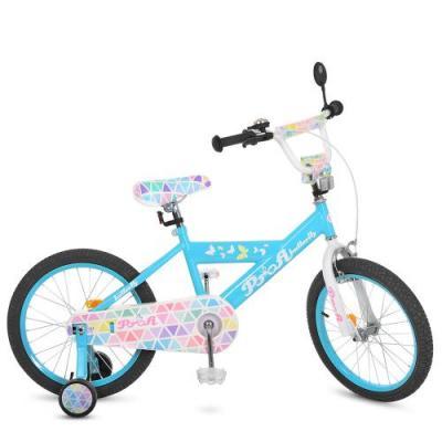 Велосипед детский PROF1 18д. Butterfly 2,голубой