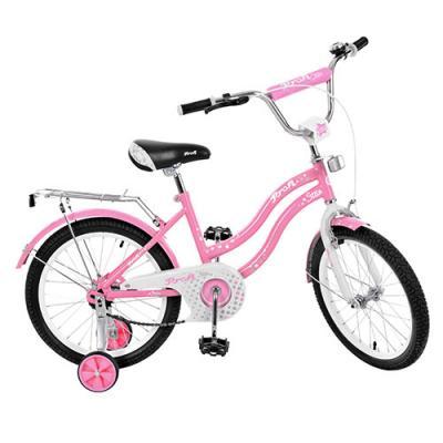 Велосипед детский PROF1 18д. Star, розовый, звонок