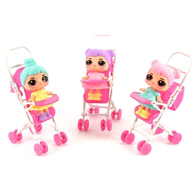 Купить Кукла в коляске, 333-37 - игрушки оптом