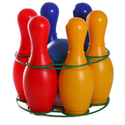 Детская игра кегли : шесть кеглей, шар