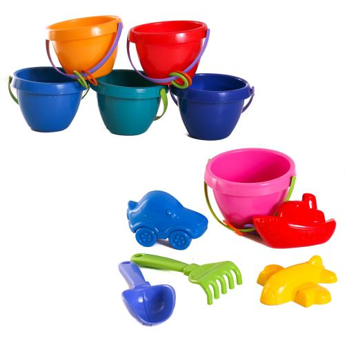 Детский песочный набор:ведерко,сито,лопатка, CP 1036
