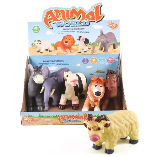 Животные прорезиненные, 6 шт. в коробке, A73215(LT325)