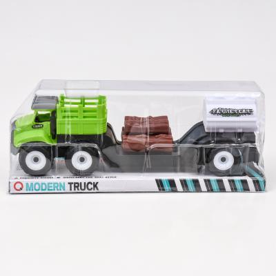 Трейлер-грузовик, с дровами и бочкой, 9935