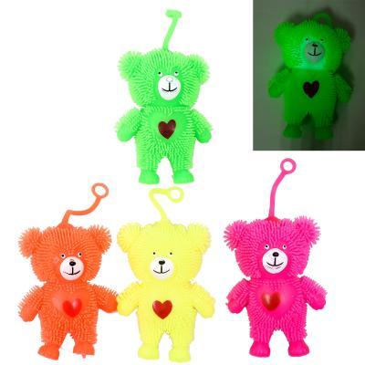 Антистресс Yoyo, мишки с сердцем, с подсветкой (цена за штуку)