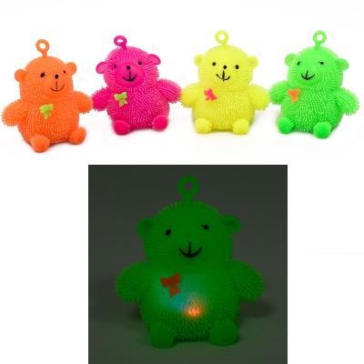 Антистресс Yoyo, мишка с бантиком, с подсветкой (цена за штуку)