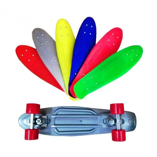 """Скейт """"Extreme plus"""" пенни, 55-14,5 см, алюм. подв, МГ 178"""