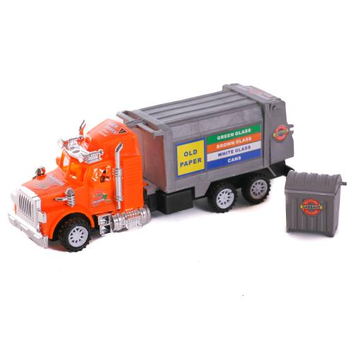 Машина инерц.мусоровоз,в пакете, 7T-KT336-3