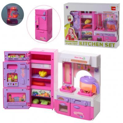 Мебель XS-14012 (18шт) кухня, холодильник, плита
