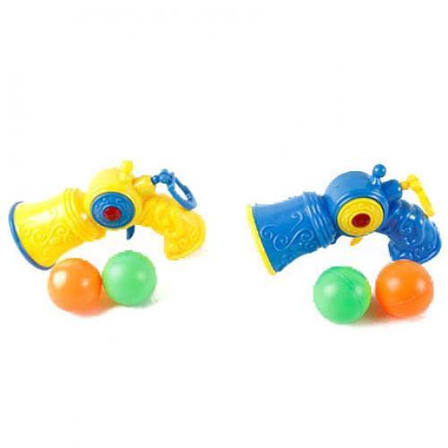 Пистолет 7791 (432шт) шарики 2шт, 2 цвета, в кульк, 7791