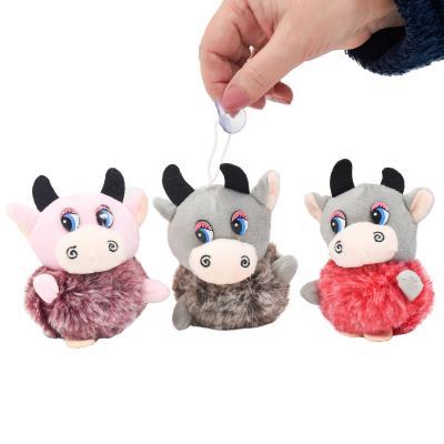 Мягкая игрушка MP 2156 (200шт) корова 9см, брелок, MP 2156