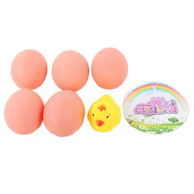 Пищалка 026 (192шт) цыпленок 5см, яйцо 5шт, 5см, в