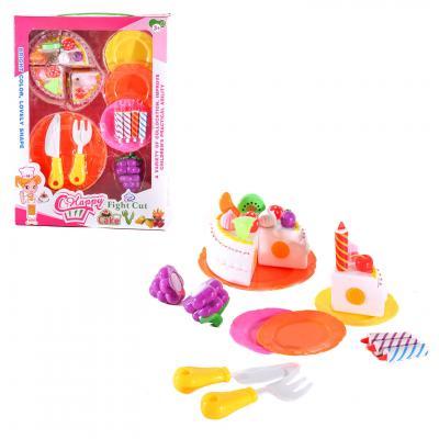 Продукты 151A (36шт) сладости, посуда, свечи, 2цве