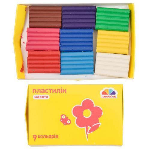 "Пластилин ""Малыши"", 9 цветов (цена за упаковку), GA-100303"
