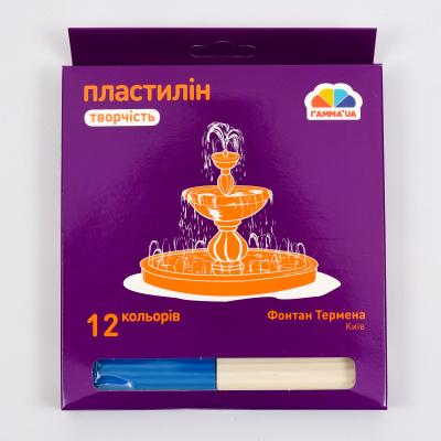 Пластилин, 12 цветов (цена за упаковку), GA-400302
