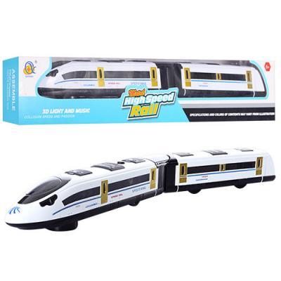 Поезд 45см, ездит, звук, 3D свет, на бат-ке, в кор