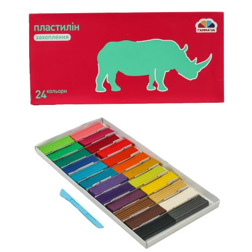 Пластилин, 24 цвета (цена за упаковку), GA-200308
