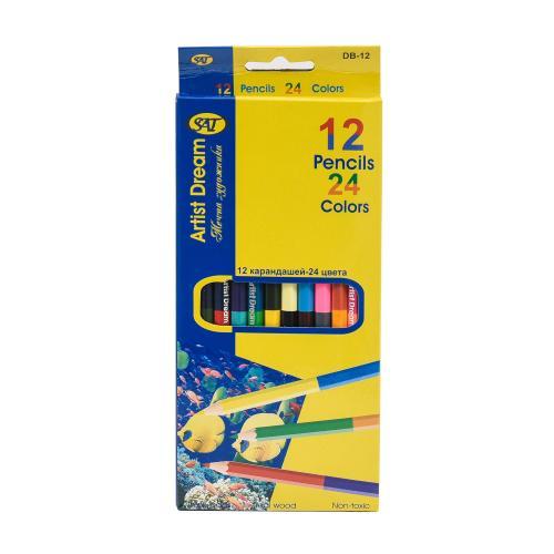 Карандаши цветные, SAT-DB-12