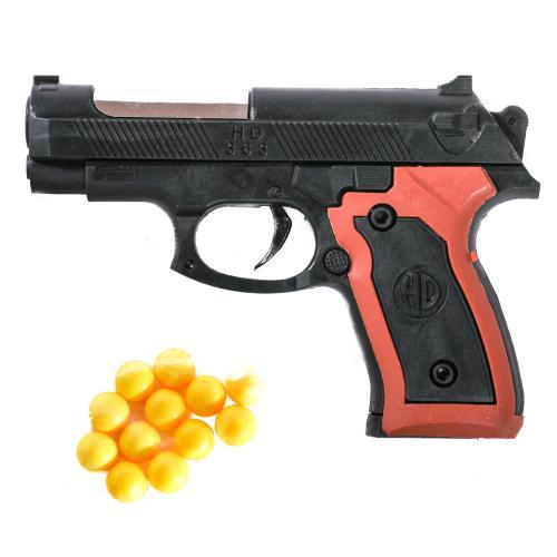 Пистолет 363 (600шт) на пульках, 13см, в кульке, 1, 363-1