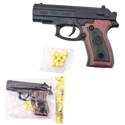 Пистолет на пульках, 13см, в кульке, 13-9,5-2,5см, 362-1