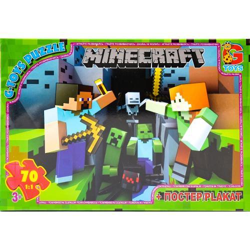 """Пазли ТМ """"G-Toys"""" із серії """"Minecraft"""" (Майнкрафт, GP-MC778"""