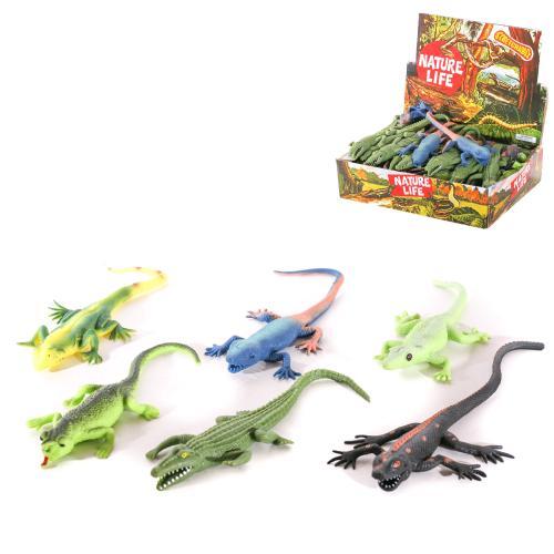 Животное A115-DB (192шт) ящерица/крокодил, 27см, 4, A115-DB