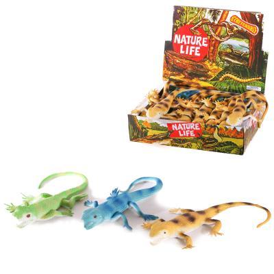 Животное A119-DB (96шт) ящерица, 35см, 24шт(3вида)