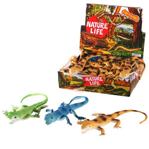 Животное A119-DB (96шт) ящерица, 35см, 24шт(3вида), A119-DB