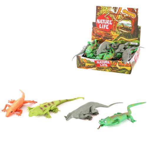 Животное A140-DB (144шт) ящерица, 27см, 24шт(4вида, A140-DB