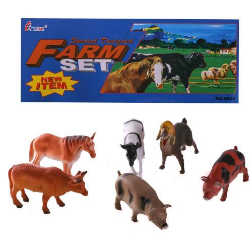 Животные H 636 (72шт) домашние, в кульке, 23см, H 636