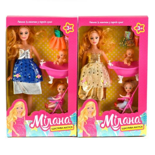 Кукла 2914 (90шт) беременная27см,с дочкой10см,наря, 2914